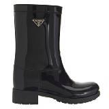 普拉达Prada亮面中跟雨靴