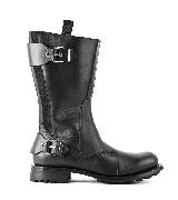 Jean Paul Gaultier高缇耶2013秋冬系列黑色平底靴