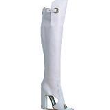 菲拉格慕(Salvatore Ferragamo)2013春夏白色软牛皮过膝夏靴