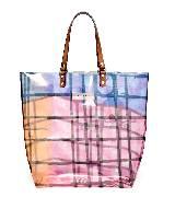 MARNI彩色半透明几何印纹购物包