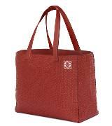 Loewe罗意威East West 石榴红色镌刻Monogram标志购物袋