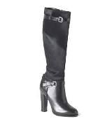 拉夫·劳伦Ralph Lauren黑色高跟长靴