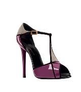 Roger vivier紫色墨灰色漆皮高跟鞋