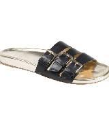 Longchamp黑色拖鞋