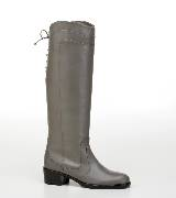 Salvatore Ferragamo灰色皮革长靴