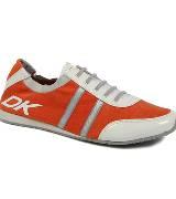 DKNY橙红色运动鞋