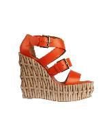 Hermes小牛皮厚底凉鞋