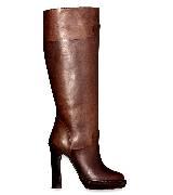 Marni棕色牛皮高跟靴