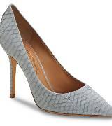 菲拉格慕(Salvatore Ferragamo)2013春夏浅蓝鳄鱼皮细跟鞋