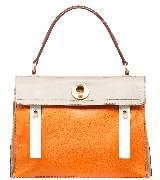 Yves Saint Laurent MUSETWO橙色拼皮中号拎包