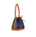 Louis Vuitton蓝橙绿拼色皮革单肩包