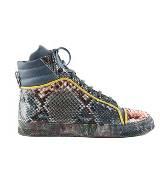 Jean Paul Gaultier高缇耶蓝色蛇皮运动鞋