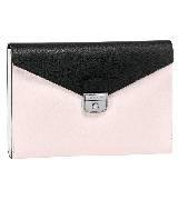 Longchamp珑骧粉色信封包