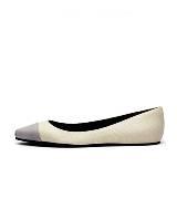 Pierre Balmain 2013春夏系列白色简约平底鞋