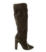 Jean Paul Gaultier高缇耶2013秋冬系列长筒咖色靴