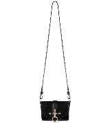 Givenchy环扣饰黑色皮革单肩包