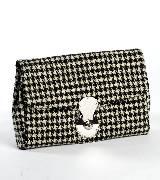 Ralph Lauren铜扣饰格纹手拿包