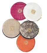 Loewe罗意威帆布皮圆形零钱袋