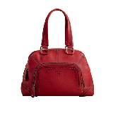 兰姿(Lancel)深红色皮质休闲手提包