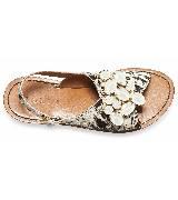 Marni斑纹皮毛宝石镶嵌凉鞋