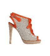 Hermes巴拿马H帆布和小牛皮OXFORD凉鞋