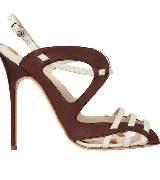Manolo Blahnik咖啡色造型弧线高跟鞋