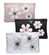Prada 2013春夏复古花朵手拿包
