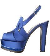 Moschino蓝色绸缎高跟鞋