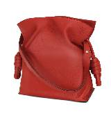 Loewe罗意威Flamenco 纯红色小号手袋