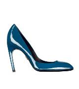 Roger vivier蓝色漆皮高跟鞋