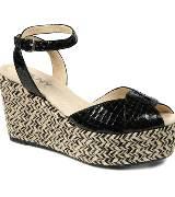 DKNY黑色厚底鞋