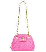 Marc Jacobs粉色半圆形链条包
