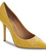 菲拉格慕(Salvatore Ferragamo)2013春夏黄色鳄鱼皮细跟鞋