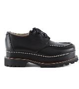Jean Paul Gaultier高缇耶黑色皮革厚底鞋