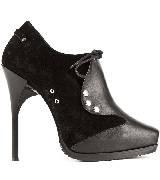 Jean Paul Gaultier高缇耶2013秋冬系列黑色拼接靴