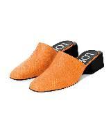 Loewe罗意威方跟皮拖鞋