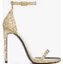 Saint Laurent金色亮片装饰高跟凉鞋
