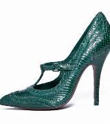 Tory Burch 2012秋季紫墨绿色新品高跟鞋