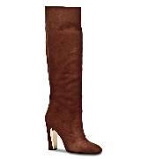 Salvatore Ferragamo咖色高跟长靴