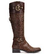 Michael Kors2013秋季系列棕色中筒皮靴