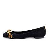 Pierre Balmain 2013春夏系列黑色蝴蝶结平底鞋