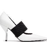 Michael Kors2013秋季系列白色尖头中跟鞋