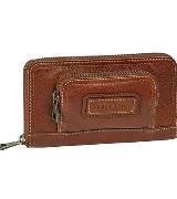 Longchamp珑骧棕色多功能钱包