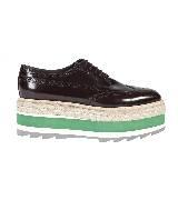 普拉达Prada厚底鞋(绿)