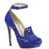 Jimmy Choo蓝色镂空时尚高跟鞋