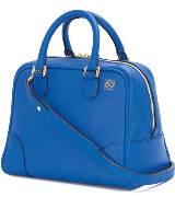 Loewe罗意威Amazona 75 电光蓝色牛皮手袋