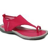 DKNY大红色运动凉鞋