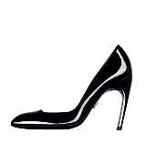 Roger vivier黑色漆皮高跟鞋