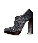 Marni深灰色镂空柱跟鞋