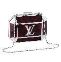 Louis Vuitton红色宝盒细链条晚装包
